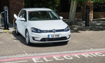 VW e Golf charging mid