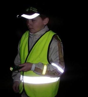 Reflective jackets, armbands and cap