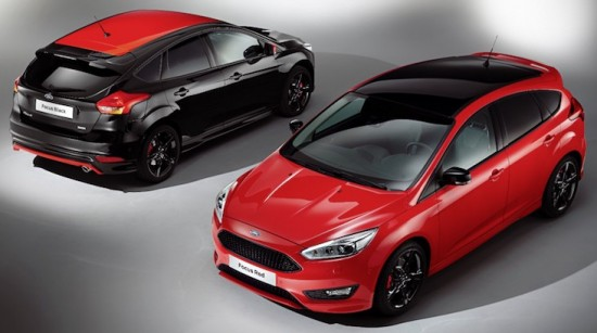 Stunning red and black editions Ford Focus S