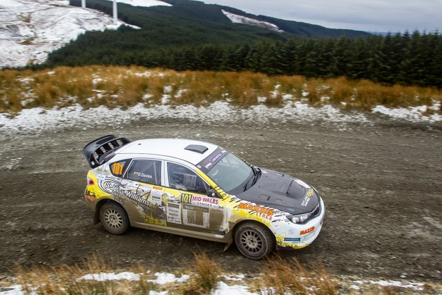 Dylan Davies and Llion Williams Mid Wales Stages