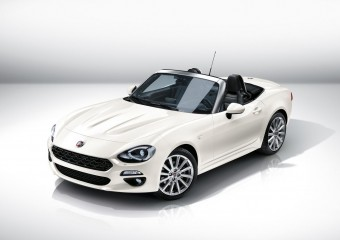 Fiat 124 Spider shown in Europe