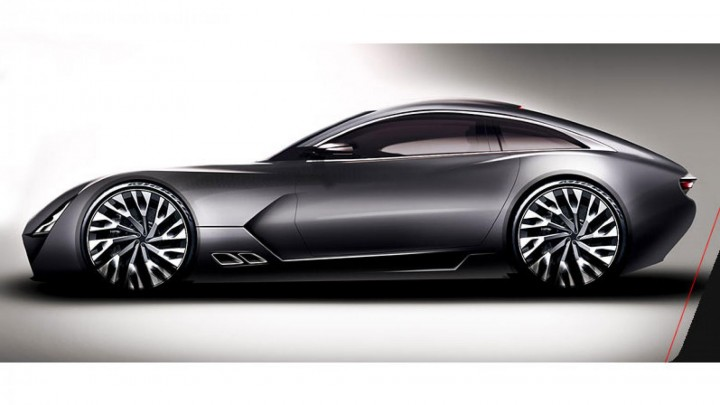 TVR rendering of their new sports car to be built in Wales