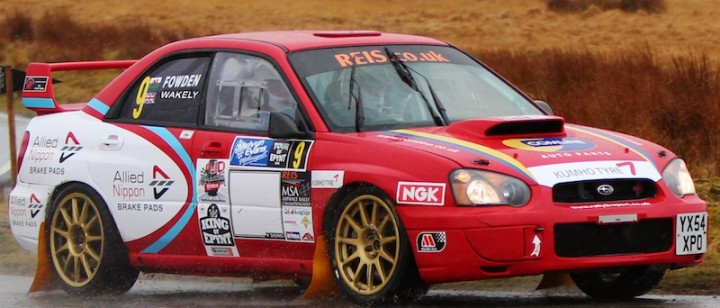 Bob Fowden put in strong Sunday drive over Epynt