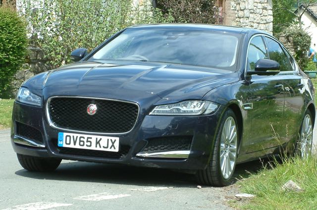 Stunning well balanced look to Jaguar XF with dark grille
