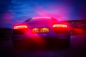 Audi R8 V10 2016 night rear lights42