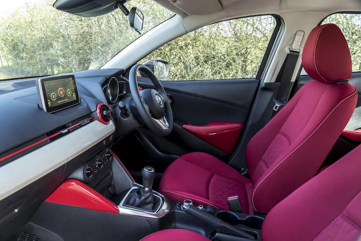 Red is bold statement in Mazda2