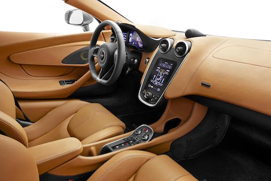Wrap around feel to driving experience of McLaren 570S