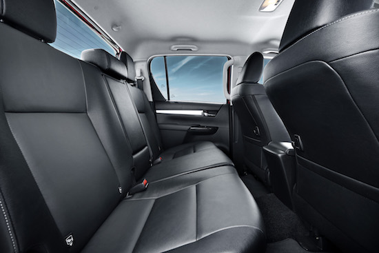 Flat but roomy rear seating