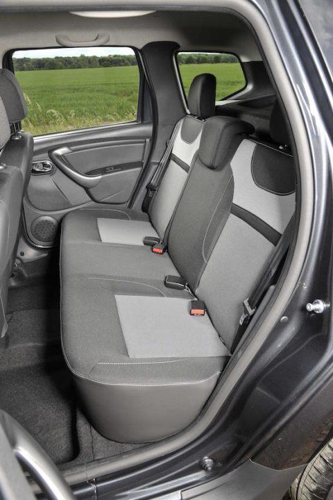 Dacia Duster inside rear