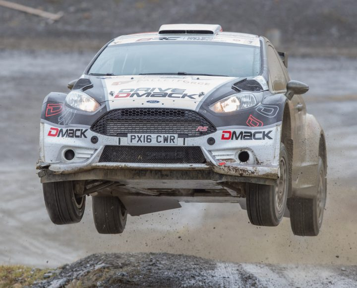 Elfyn Evans caught low flying by Gary Jones
