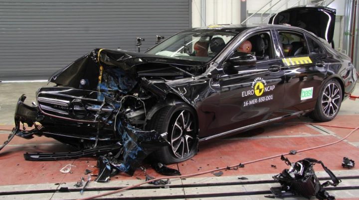 One of the best chances of surviving a crash in the latest MB E Class