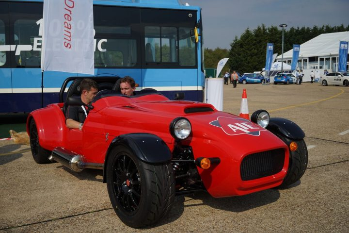Westfield sports car with experimental rotary engine